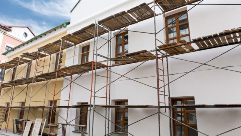 Sanierung der Fassade